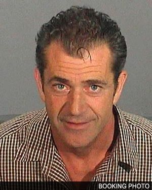 MEL GIBSON MUG SHOT right