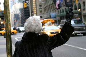 women-hail-coat-hailing-city-hair-fur-gray-block-taxi-grey-cab